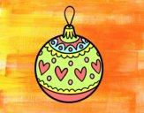 Bola de Navidad estampada