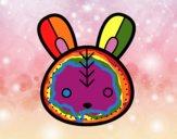 Dibujo Cara de conejito de Pascua pintado por taradelaf