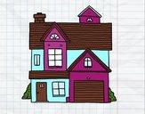 Dibujo Casa unifamiliar americana pintado por valemi