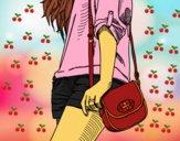 Dibujo Chica con bolso pintado por Nazaret_xs