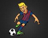Dibujo Delantero de futbol pintado por Socovos