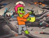 Disfraz de zombie de Halloween