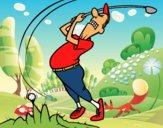 Dibujo Golfista pintado por Socovos