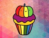 Dibujo Halloween cupcake pintado por taradelaf