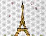 Dibujo La torre Eiffel pintado por Raquel09