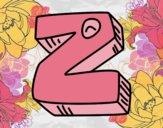 Dibujo Letra Z pintado por sayumy