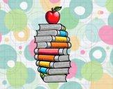 Dibujo Libros y manzana pintado por GaMzEe