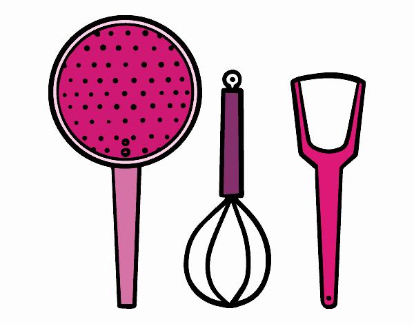 18 genial utensilios de cocina para colorear fotos - Utensilios de cocina para pintar ...