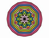 Dibujo Mandala cenital pintado por belkmar