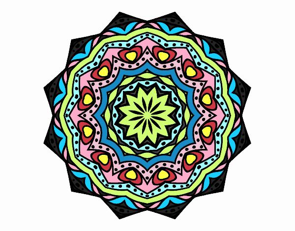 Dibujo Mandala con estratos pintado por belkmar