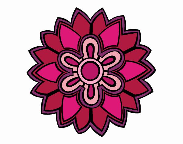 Dibujo Mándala con forma de flor weiss pintado por belkmar