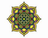 Dibujo Mandala flor de fuego pintado por belkmar