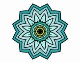 Dibujo Mandala flor de girasol pintado por belkmar