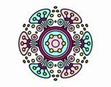 Dibujo Mandala mundo lejano pintado por belkmar