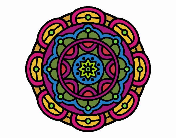 Dibujo Mandala para la relajación mental pintado por belkmar