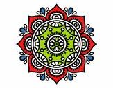 Dibujo Mandala para relajarse pintado por JaviMAN1