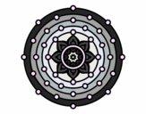 Dibujo Mandala sistema solar pintado por belkmar