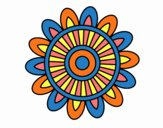 Dibujo Mandala solar pintado por belkmar