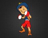 Dibujo Niño boxeador pintado por Socovos