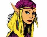 Dibujo Princesa elfo pintado por Socovos