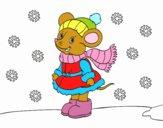 Dibujo Ratita abrigada en Navidad pintado por neibys