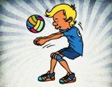 Dibujo Saque de voleibol pintado por Socovos