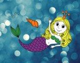 Sirena saludando