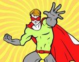 Dibujo Superhéroe enmascarado pintado por Jchavez