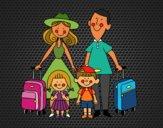 Dibujo Una familia de vacaciones pintado por Socovos