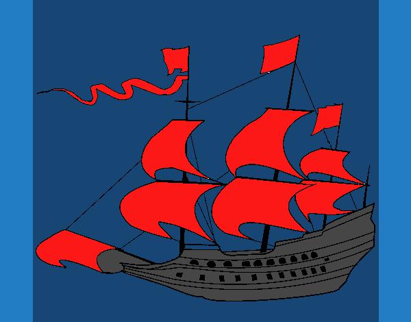 Velero del siglo XVII