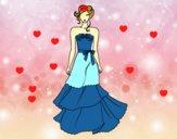 Vestido de boda palabra de honor