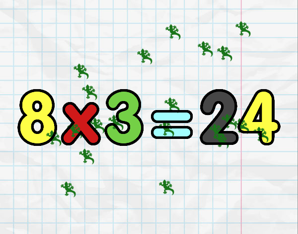 8 x 3