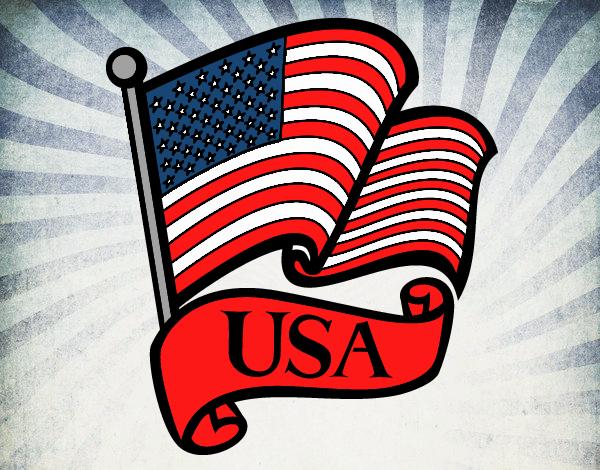 Dibujo Bandera de los Estados Unidos pintado por Juice