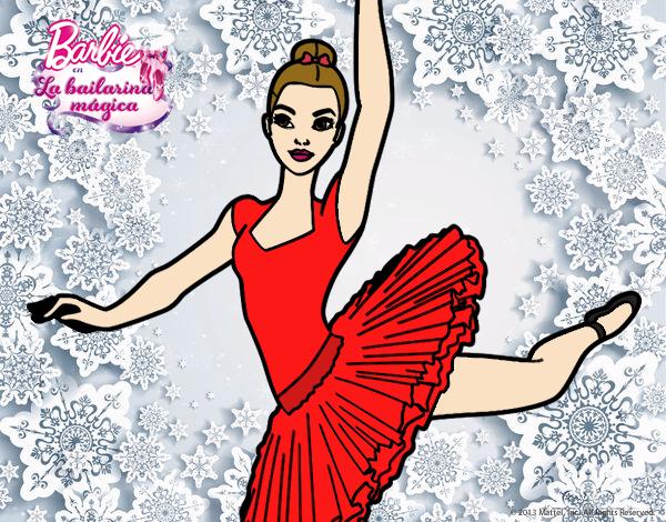 Dibujo Barbie en segundo arabesque pintado por RocioNayla