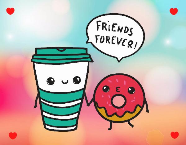 Dibujo Café y donut pintado por RocioNayla