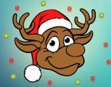 Dibujo Cara de reno Rudolph pintado por AshlyMarLo