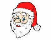 Dibujo Cara de Santa Claus pintado por superchic