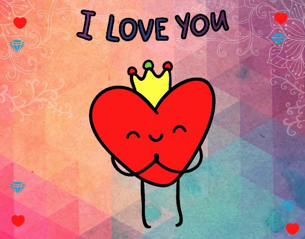 Dibujo Corazón I love you pintado por RocioNayla