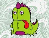 Dibujo Dinosaurio monstruoso pintado por Socovos