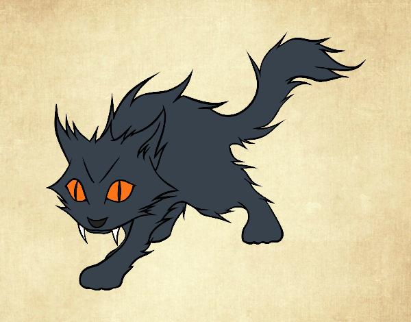 Dibujo Gato Yule pintado por Socovos