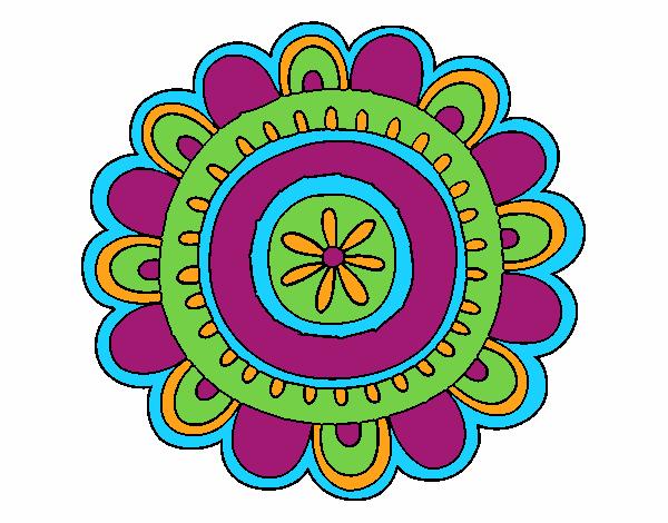 Dibujo Mandala alegre pintado por bonfi
