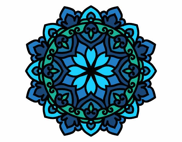 Dibujo Mandala celta pintado por bonfi