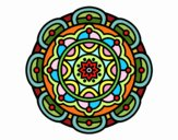 Dibujo Mandala para la relajación mental pintado por zegis
