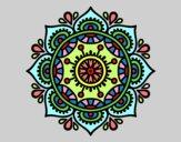 Dibujo Mandala para relajarse pintado por zegis