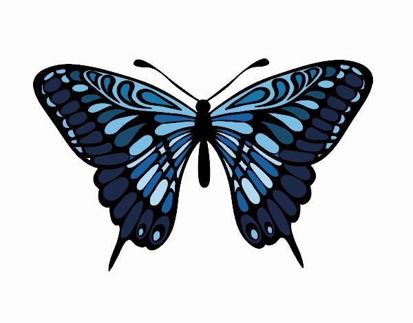 Dibujo Mariposa gran mormón pintado por Juice