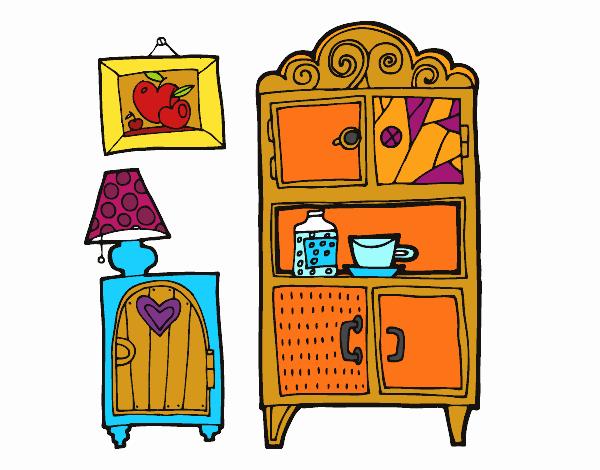 Dibujo Muebles de salón pintado por jhaslitpms