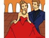 Dibujo Princesa y príncipe en el baile pintado por itsnadii