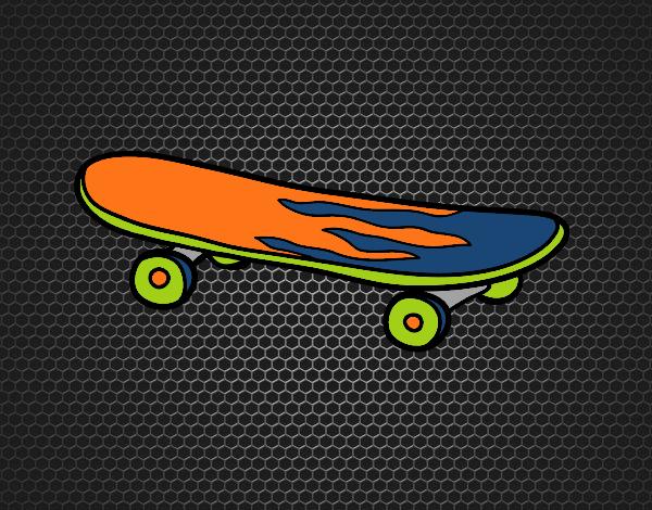 Dibujo Skate pintado por Socovos