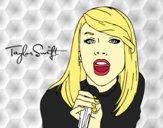 Dibujo Taylor Swift cantando pintado por RocioNayla