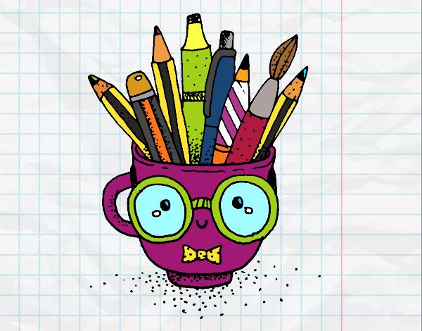 Dibujo Taza animada con lápices pintado por Socovos